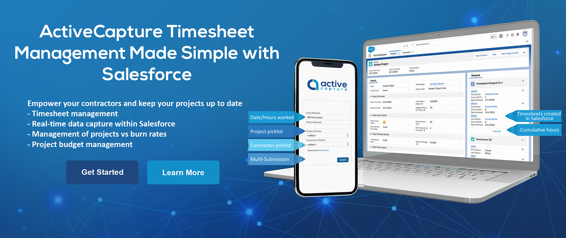ActiveCapture Time Sheeting Solution for Salesforce Powered by CloudActive