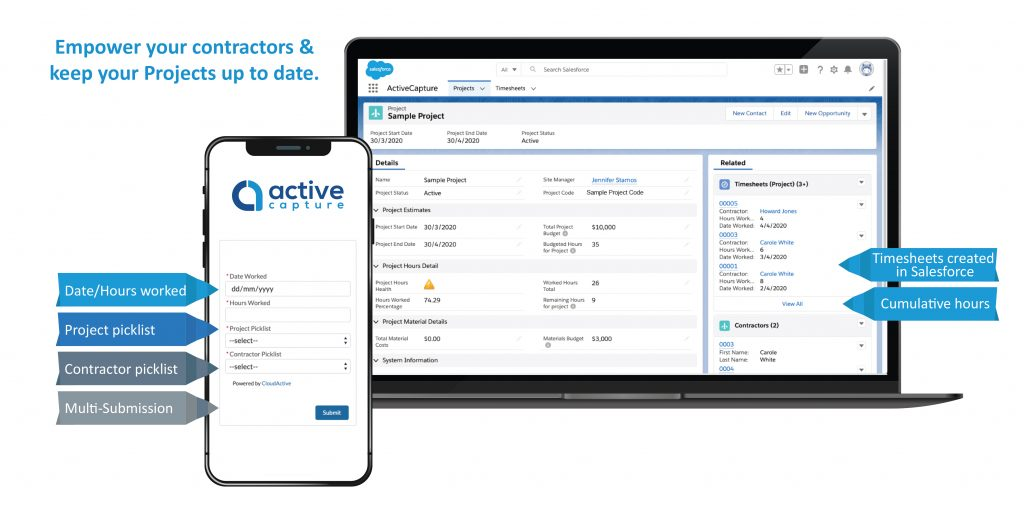 ActiveCapture Timesheet Solution for Salesforce by CloudActive