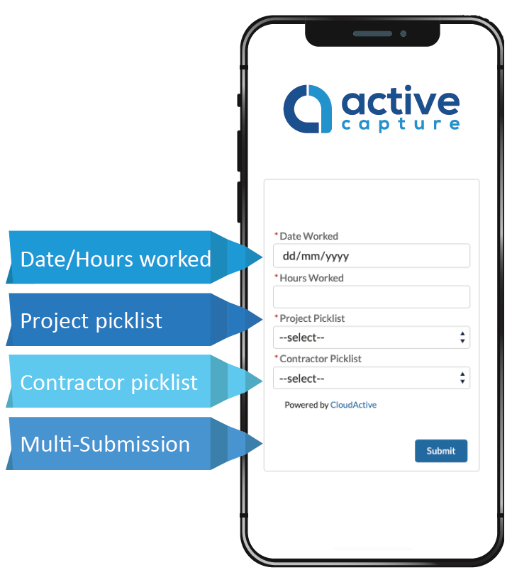 ActiveCapture TimeSheet Management on Salesforce